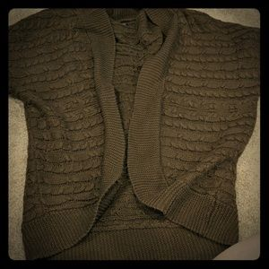 Maurice's brown short sleeve oversized sweater